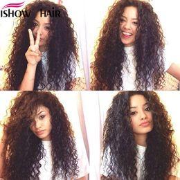 Discount maylasian weft hair - Maylasian Brazilian Indian Unprocessed Virgin Hair Deep Wave Hair 4 Bundles Ishow Top 8A Hair Weave 8-28inch Hot Selling