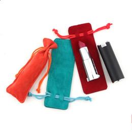 Korean Perfumes NZ - Velvet Bag 13x4.5cm Jewelry Bag Favor Lipstick Essential oil Bottle Perfume Wedding Velvet Drawstring Pouch Gift Bag F1501