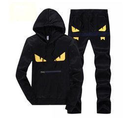 Little Hats Australia - 2018 mens designer tracksuits Leisure sports running mens suit little monster New style hat and long sleeved sweater in spring and Autumn