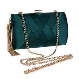 $enCountryForm.capitalKeyWord NZ - Women Evening Bags Metal Tassel Lady Clutch Bag With Chain Shoulder Handbags Classical Style Small Purse Day Evening Clutch Bags