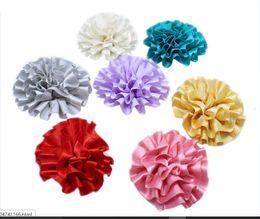 $enCountryForm.capitalKeyWord UK - 20 pcs bag folded fabric flower DIY satin ribbon cabbage style puff flowers for headwear garment flower accessories
