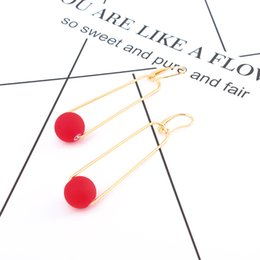 $enCountryForm.capitalKeyWord NZ - Geometric fashion red beads earrings female Japan and South Korea fashion wild allergy jewelry wholesale free shipping