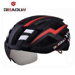 $enCountryForm.capitalKeyWord Canada - Bicycle EPS helmet Net Bike helmet cycling road MTB bike integrally-molded lenses, wind-proof hull cycling