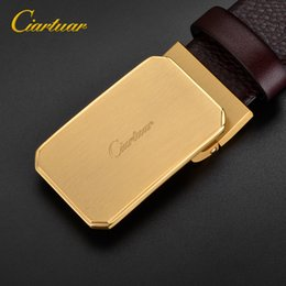 $enCountryForm.capitalKeyWord NZ - 2018 ciartuar new design quality men belt genuine plan leather strap trousers first layer brass C gold buckle free shipping 3.4