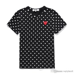 Best Cotton For T Shirts Australia - Best Selling CDG PLAY Tshirts Pullover Shirts OFF Heart Emoji Holiday WHITE Short Sleeve T-Shirt Anti_Static FOG Wear For Love Lovers S-XL