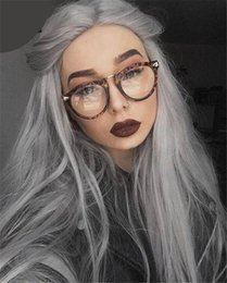 peruvian straight hair styles 2019 - Human Hair Straight Style Grey Lace Front Wig With Baby Hair Glueless Lace Front Human Hair Wig Full Lace Wig For Black
