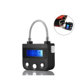 Mouth Lock Gag UK - Electronic Bondage Lock, BDSM Fetish Handcuffs Ankle Cuffs Mouth Gag Chastity Timing Switch Sex Toys