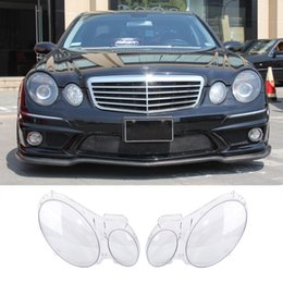 Shell houSeS online shopping - New Transparent Housing Headlight Lens Shell Cover Lamp Assembly For Benz W211 E240 E200 E280 E350 E300