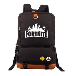 Discount teenage girl shoulder bags - NEW Fortnite Battle Royale Backpack Young Boys Teenage Girls shoulder travel bag Canvas Luminous Edition Schoolbag Lapto