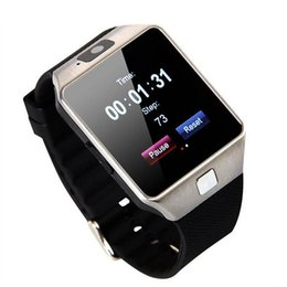 Wholesale DZ09 Bluetooth Smart Watch Phone Mate GSM SIM For Android iPhone Samsung HTC LG Huawei Cell phone inch Free DHL smartwatches