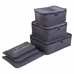 Chinese  LIYIMENG Waterproof Clothes Organizer Household Portable storage Box Underwear Bra Packing Travel Cloth Storage Bag 6pcs set manufacturers