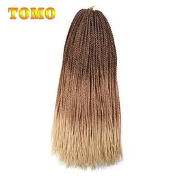 """Discount 27 braiding hair - TOMO Senegalese Twist 24"""" Long Braiding Hair Extensions Brown Blonde Pure Ombre Micro Braided Woman Synthetic Croch"""