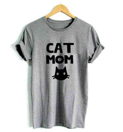 a268a761 Cat Mon Casual Print Womens T-Shirt 2018 Summer Round Neck Cotton Funny T- Shirt For Women Top T-Shirt Hipster Tumblr Drop Ship