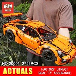 Nouveau LEPIN 20001 Technologie série Race Voiture Modèle Kits de Construction Blocs Briques Compatible 42056 Garçons Cadeau Jouets Éducatifs
