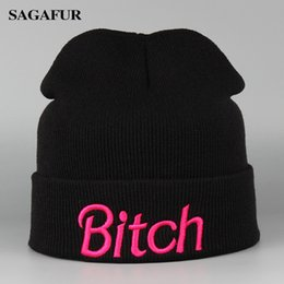 $enCountryForm.capitalKeyWord Australia - Women's Winter Knitted Hats Embroidery Cool Letter Fashion Black Cap Acrylic Hip Hop Leisure Beanies Skullies Gorros For Men