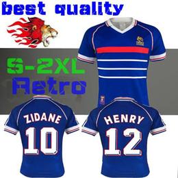 5bc61ee215d 1998 FRANCE RETRO VINTAGE ZIDANE HENRY MAILLOT DE FOOT Thailand Quality  soccer jerseys uniforms Football Jerseys shirt