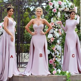 Pink 2018 New Arrival Mermaid Bridesmaid Dresses Sweetheart Backless Wedding  Maid of Honor Dress Prom Evening Gowns Formal Dress Elegant 43df1a3db765