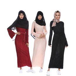 $enCountryForm.capitalKeyWord NZ - Middle East XXL Dubai Kaftan Abaya Turkey Muslim Women Crimping Dress Turkish Islamic Female Cardigan Long Sleeve Abayas Dresses vestidos