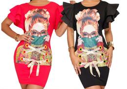 455c47fe75013 Ropa para mujer Vestidos casuales Estampado de niña de moda Vestidos de  columna de la vaina Damas deporte manga corta Tallas grandes Vestidos  Vestidos ...