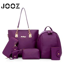 Multi Color Hand Bag Australia - Luxury Women 6 Piece Bag Set JOOZ Brand 2017 Women Tote Ladies Hand bags PU Leather Messenger Shoulder bags Composite