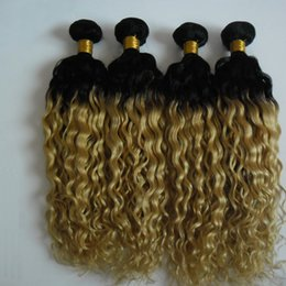 mixed blonde ombre hair extensions Australia - 4pcs Blonde Brazilian kinky curly Ombre Hair 100% Human Hair Bundles T1b 613 Brazilian Hair Weave Bundles Non Remy Extension double drawn