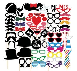 photo funny prop Australia - New 58pcs Mustache On A Stick Wedding Party Photo Booth Props Photobooth Funny Masks Gifts For Wedding Decoration Photocall