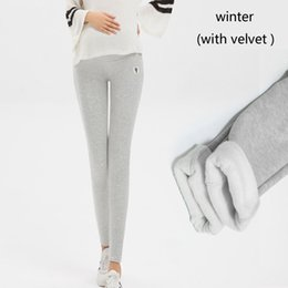 $enCountryForm.capitalKeyWord Australia - Winter Velvet Pants For Pregnant Women Maternity Leggings Coon Warm Clothes Thicken Pregnancy Trousers Maternity Clothing 4XL