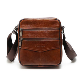 Casual Zipper Office Bags For Men Messenger Bags Luxury Genuine Leather Men  Bag Designer High Quality Shoulder Bag Briefcase 841a43943739a