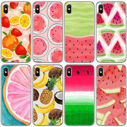 banana phone cover 2019 - Phone Case For Apple iPhone XS MAX XR 5 5S SE 6 6S 7 8 Plus X fruit watermelon banana pineapple pattern print TPU Soft s