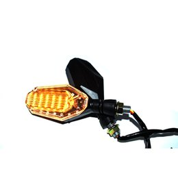 Flasher For turn signal online shopping - For V Flasher Motorcycle LED Turn Signal Universal Motorbike Indicator White Daytime Running Light DRL