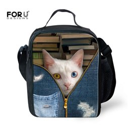 $enCountryForm.capitalKeyWord Australia - FORUDESIGNS Cute Animal Cat Fashion 3d Printing Lunch Bag Thermal Insulated Termica Bolsa Picnic Kids Lunchbags Tote With Zipper