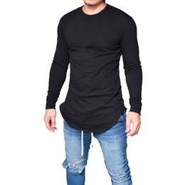 18b349dd8a4 Plus Size Fashion T Shirt Men Solid Long Sleeve Tshirt O Neck Streetwear  Muscle Fittness Blouse Camiseta Masculina