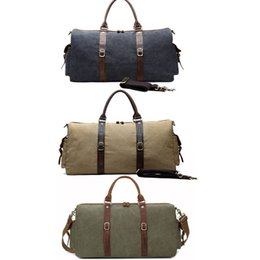Fashion Canvas Men Travel Bag Large Capacity Men Hand Luggage Travel Duffle  Bags Weekend Multifunctional Tote Bag Free DHL G158S 4782a5309a