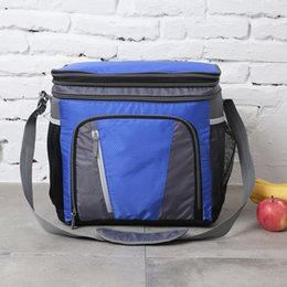 Picnic Ice Packs Australia - 24 36 CAN big capacity expandable top lunch bag thermal picnic box vehicle insulation shoulder bag ice pack thermo cold cool