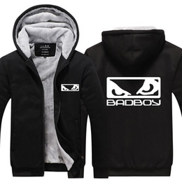 MMA Bad Boy Bad Boy Cashmere Felpa con cappuccio New Winter Addensare in pile Zipper in cotone Giacca cappotto casual Felpa super calda USA Taglia EU Plus Size