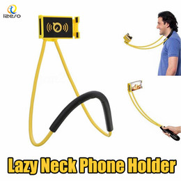 lazy cell phone holder 2019 - Long Arm Hand Free Cell Phone Holder Lazy Hanging Neck Stand Universal Necklace Cellphone Support Bracket for Samsung S9