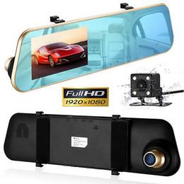 "$enCountryForm.capitalKeyWord NZ - 4.3"" 1080p Dual Lens Car DVR Rearview Mirror G-sensor Dash Cam Camera Recorder Factory Sells"