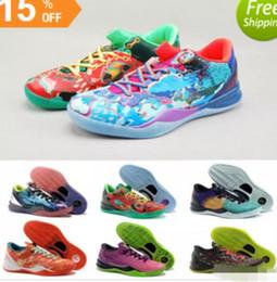 nice shoes f1274 054f4 Multicolor Was die Kobe 8 VIII System Top Basketballschuhe für billige  Klassische KB 8er Mamba Assassin   Ostern   Master Sportschuhe Größe 40-46