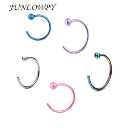 $enCountryForm.capitalKeyWord NZ - wholesale Piercing Nose Stainless Steel Hoop Nose Rings Earring Stud Tragus Piercing for Women Men Fashion Pircing Nariz