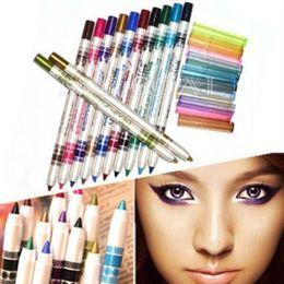 $enCountryForm.capitalKeyWord Australia - 12pcs Set Glitter Lip Liner Eye Mixed color Eyeliner Pen Makeup Cosmetic Sets