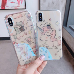 $enCountryForm.capitalKeyWord NZ - For iphone 7 TPU painting case Cartoon cute Unicorns cell phone cases ultra thin soft back silicone cover shell