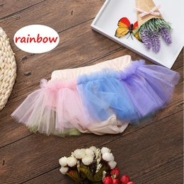 $enCountryForm.capitalKeyWord NZ - Baby girl Summer skirt Infant rainbow tutu shorts INS Newborn Girls sweet short pants for 0-3years