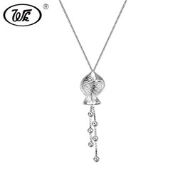 $enCountryForm.capitalKeyWord UK - WK Solid 925 Silver Handmade Elegant Fish Necklace Pendant Women Jewelry Clothing Accessories Gift For Party Circuit BW NB072