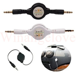Usb Audio Jack Music Australia - Stereo 3.5mm to 3.5 Jack male to male Car Audio Cable Male Retractable Aux Music Line for iphone mp3 speaker headphone
