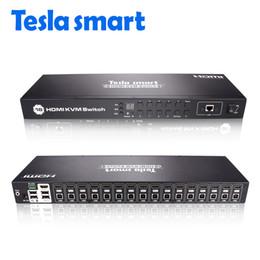 Commutateur KVM HDMI à 16 ports Commutateur KVM HDMI à 16 ports Commutateur KVM Prise en charge HDMI 3840 * 2160 / 4K 2 Pcs Rack Ears Standard