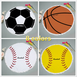 $enCountryForm.capitalKeyWord NZ - Beach Blanket Baseball Football Yoga Mat Superfine fiber Rug Towels Mandala Sunscreen shawl loop Towel 148CM Micropore fiber cushion DHL