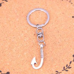 $enCountryForm.capitalKeyWord Australia - New Design fishhook hooks Keychain Car Key Chain Key Ring silver pendant For Man Women Gift
