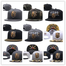 ca2ecd726d1 Vegas Golden Knights Ice Hockey Knit Beanies Embroidery Adjustable Hat  Embroidered Snapback Caps Black Gray White Stitched Hats One Size