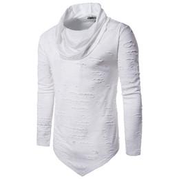 e6caaa1154 Punk rock toPs tees online shopping - Nibesser T Shirt Men Turtleneck Long  Sleeve Hole Pullover