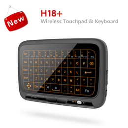 $enCountryForm.capitalKeyWord Australia - Backlight Mini Wireless Keyboard with Full Touchpad H18+ Backlit Air Mouse TV Box Remote Control Controller for PC QWERTY Keyboards